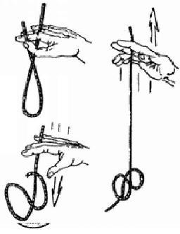Как завязать узел одной рукой