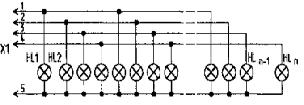 схема соеденения ламп в гирлянде