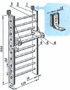 Гимнастическая лестница своими руками