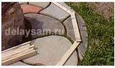 Делаем дачную скамеечку криволинейной формы