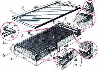 Изготовление солнечного водонагревателя